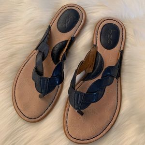 boc Shoes - Navy blue BOC braided strap flip flop/sandals